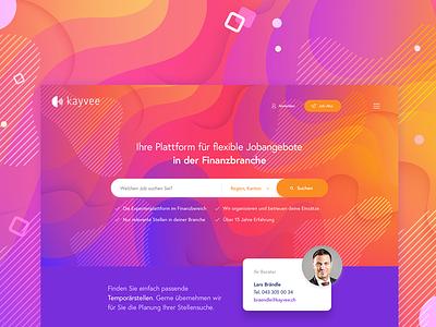 UI Design - internet paltform for kayvee colorful bitcoin after website illustration dark blue digital concept brand icon application motion ux colors app bitfuel design animation ui