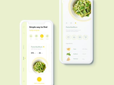 Concept Food UI App flat brand web clean branding typography website digital app colorful application motion concept colors design ui ux illustration bitfuel animation