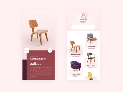 Furniture App – clean & minimal UI illustration lettering minimal flat motion website digital app colorful colors web application concept typography logo brand design ux bitfuel ui
