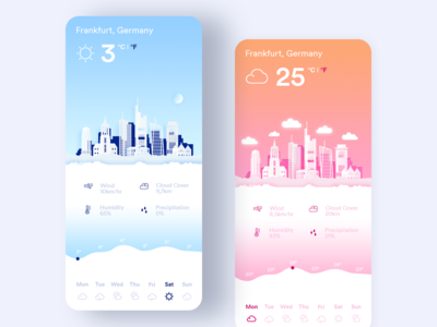 Summer / Winter UI App Design