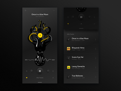 bitfuel.ui #2 digital bitfuel music app music concept illustration dark black color uiux ux neuphorism design app design app uidesign ui design