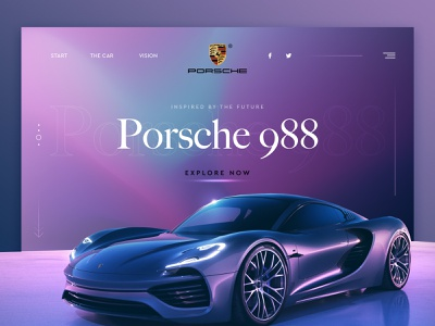 bitfuel.ui #3 illustration bitfuel design webdesigns glossy ux design ux uiux website ui design porsche car colorful color concept webdesign ui