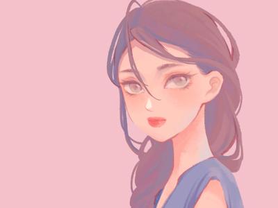 人物头像 女孩 设计 头像 人物 illustration