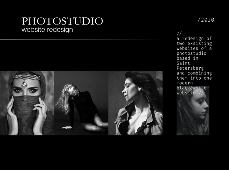 Redesign of a photostudio website minimal design website design ui webdesign