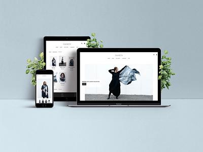 Taiyety Web Design fashion brand ui ecommerce shopify website web design