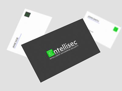 Entellisec graphic design illustrator business card logo branding brand identity