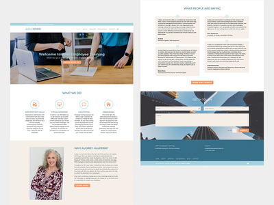 Homepage web design for a consultant wordpress ui ux web design