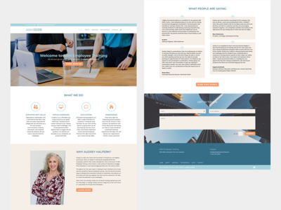 Homepage web design for a consultant
