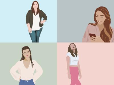 Digital portrait illustrations