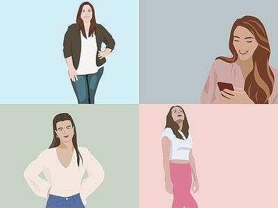Digital portrait illustrations graphic design illustrator illustration