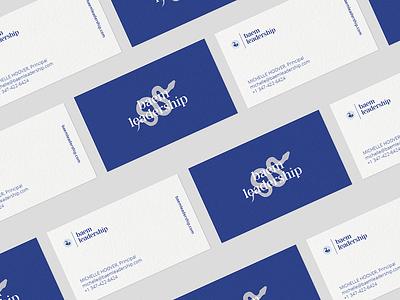 Logo and business card design for Baem Leadership business card brand identity branding logo
