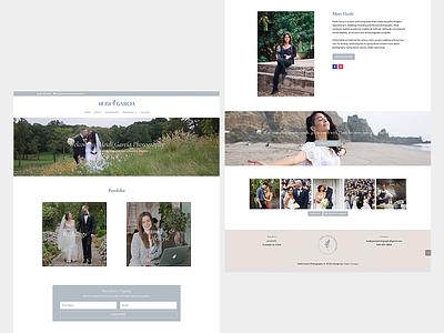 Website design for Heidi Garcia Photography logo branding brand identity ui ux wordpress website web design