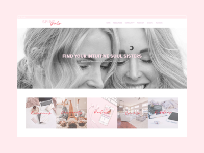 Spirit Girls Website Design