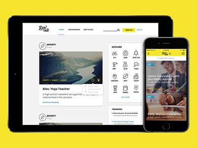 Real Talk - Career Advice App careers cross-platform content web apple iphone ios