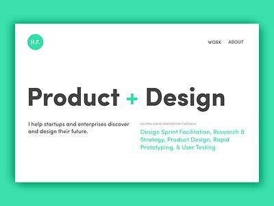 Portfolio V4 white space sofia pro simple clean typography web design portfolio