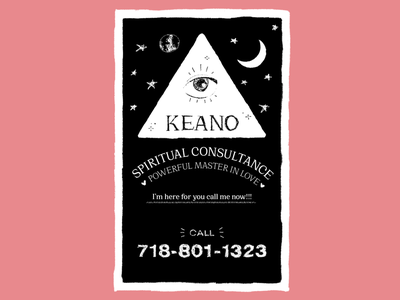 Spiritual Guidance eye mystic new york nycsubway tarot pink typography design illustration