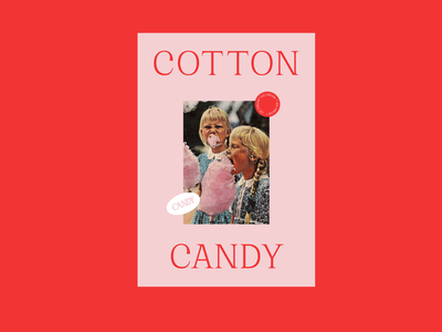 Cotton Candy poster a day photography weeklywarmup flatdesign design graphic design poster design pink red typography poster
