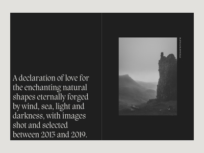 O Ye Light and Darkness || A tribute to Scotland minimalistic web photography typography web design art direction