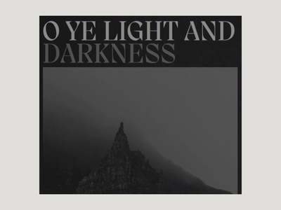 O Ye Light and Darkness || A tribute to Scotland landscape photography black and white minimalistic photography typography ui web design art direction creative direction
