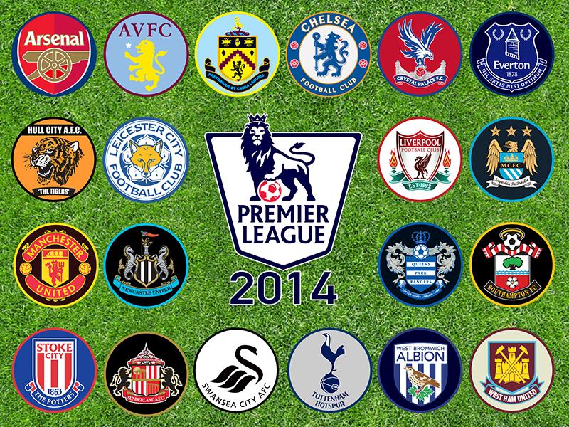 Premier League Clubs: Vector Icon Set For Premier League 2014 Teams By Gabe
