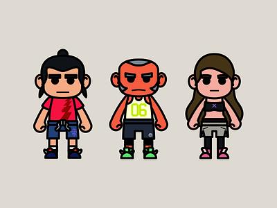 Ballers fantasy sneakers street sports basketball ball baller design cute 2d illustration character design