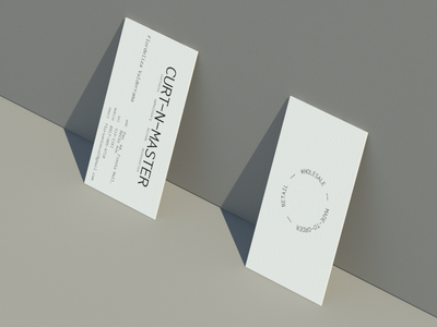Curt-N-Master card design neutral gray beige calling card business card minimalist minimal business card flat logo design branding