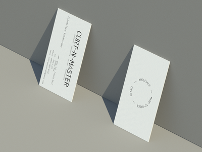 Curt-N-Master card design neutral gray beige calling card business card minimalist minimal business card flat logo design branding