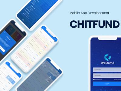 Mobile App UX Design flat typography ux branding ui design illustration chitpro microfinance blue ux design uxui mobile app design