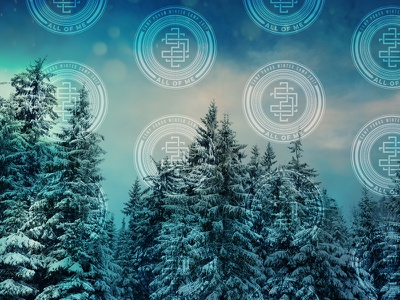252 Theme Backgrounds intertwining interconnected monogram winter camp 252 theme patterns repeated backgrounds