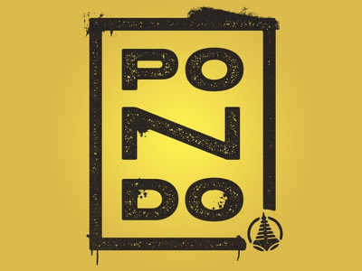 Pondo Stacked Shirt letters rough grunge mock up summer camp stacked shirt apparel