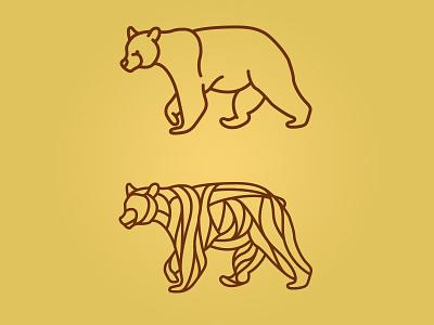 FH Bear Unused Concepts sticker vinyl illustration line art bear
