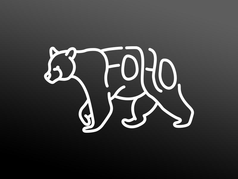 FH Bear Final forest home window sticker vinyl illustration line art bear