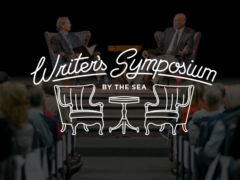 Writer's Symposium By The Sea illustration education point loma writing logo script typography lettering
