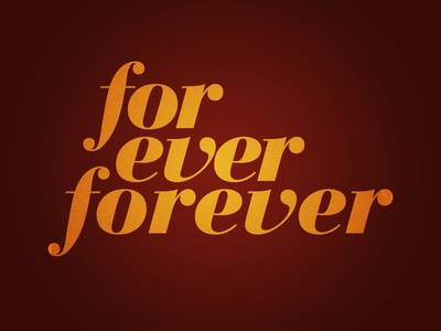 For Ever Forever Shirt design