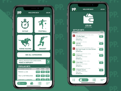 Paddy Power iOS App Redesign
