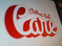 Care Clothing branding