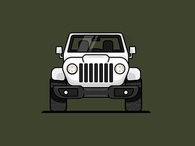 Jeep Wrangler detail shadow wrangler jeep black design figma modern simple clean vector illustration nicholas kovalev