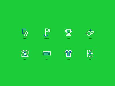 Soccer Icons soccer icons branding figma modern simple clean vector nicholas kovalev