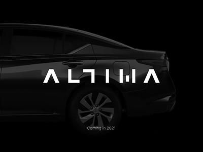 Altima Redesign car altima nissan design branding logo figma modern simple clean vector nicholas kovalev