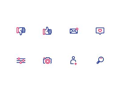 Social Media Icons socialmedia icons logo branding illustration figma modern simple clean vector nicholas kovalev