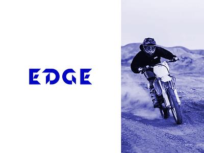 Edge Branding motorcycle dirtbike motorcross design branding logo figma modern simple clean vector nicholas kovalev