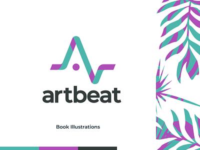 Artbeat artbeat design branding logo figma modern simple clean vector nicholas kovalev