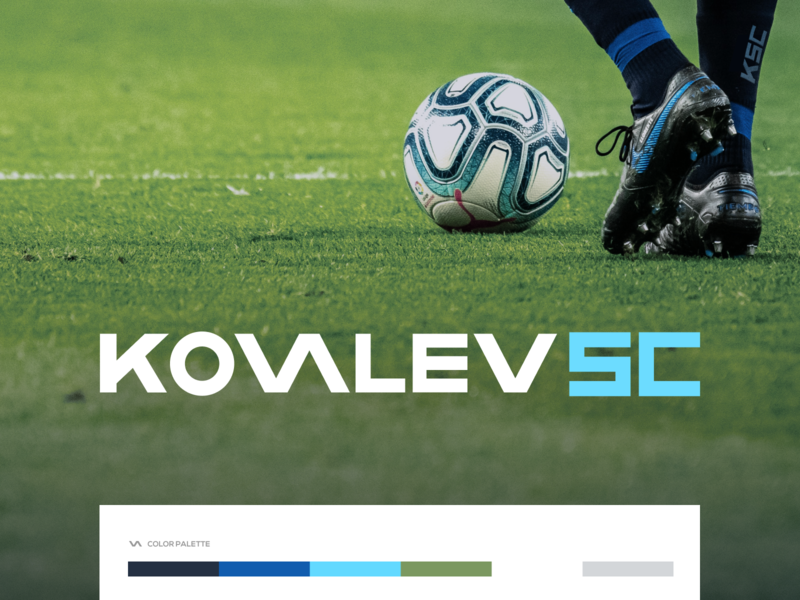 Kovalev Soccer club football club soccer design branding logo figma modern simple clean vector nicholas kovalev