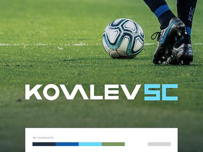 Kovalev Soccer club football club soccer design branding logo figma modern simple clean vector nicholas kovalev