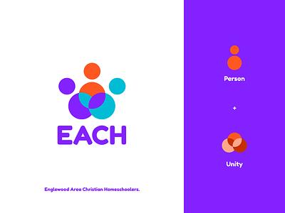 EACH Concept typography print mobile app animation branding logo illustration figma modern simple clean vector nicholas kovalev