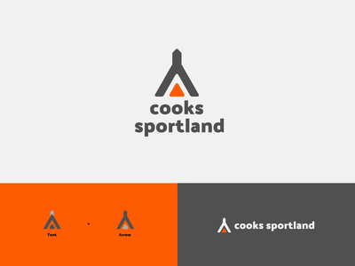 cooks sportland redesign fishing camping hunting design branding logo figma modern simple clean vector nicholas kovalev
