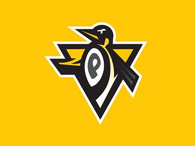 Penguins Logo cup stanley puck crest logos logo branding yellow pittsburgh hockey nhl penguins