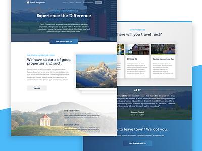 Properties Site web web design website landing clean landing page ux ui vacation property real estate