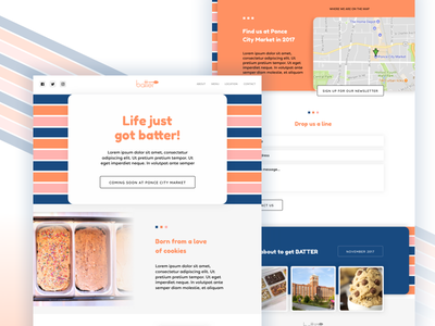 Batter Cookie Dough concept website site homepage web design web user interface ux ui cookie dough dough cookie