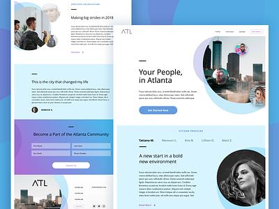 Atlanta Design Practice atlanta purple blue gradient web homepage landing page lander ux ui